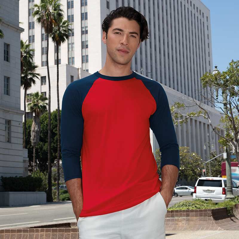 Polycotton ¾ Sleeve Raglan Tee (BB453)