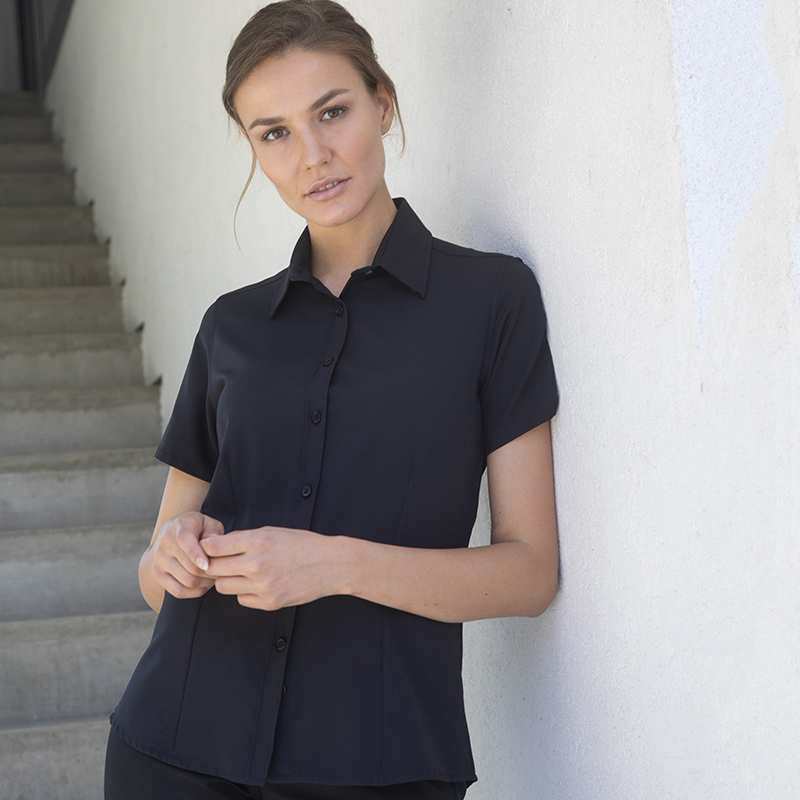 Henbury Wicking Anti-Bacterial Short Sleeve Mens Shirt 8 Colours